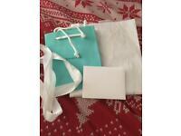 Tiffany bag, tissue, card and ribbon