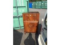 Vintage Space saving hospitality/ cocktail cabinet