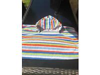 Two Striped Children's/Childrens/Kids Hooded Beach Towels/Ponchos