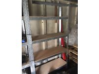 Strong single bay racking height adjustable shelves!