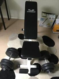 Weights bench and weights never used