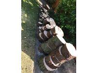 Wooden logs slices for wood burner