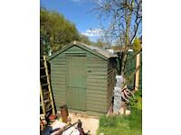 Wooden shed 6ft x 8ft