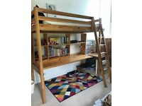 IKEA STORA Single Flying Loft Bed High Sleeper with desk Cabin Bunk Mezzanine delivery