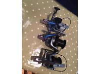 3 x tfg v10 distance carp reels good condition