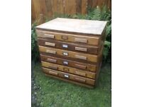 Architect / plan chest of drawers £250 ono