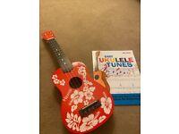 ukulele and book