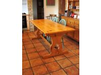 Solid pine hand crafted kitchen table