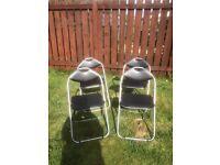 Folding Chairs x 4