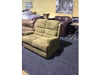 brown fabric 3/2 suite-- like new--