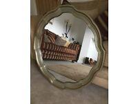 Fabulous Aged Gold Kirkham Round Mirror 835mm Diameter