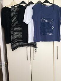 Ladies clothes bundle size 16/18/20 tops, jeans, shorts, summer vests