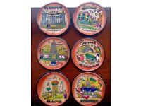 Leather Ecuador coasters