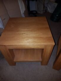 Oak occasional Tables x 2