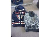 Boys warm jumpers X2 size 2-3 years