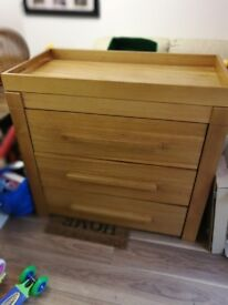 Glasgow pram Centre moderno chest of drawers with changing table top