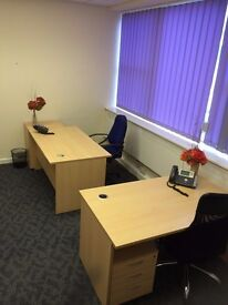 Fully Furnished 2-3 Person Office Suite Space To Rent Let North Somerset Serviced Offices