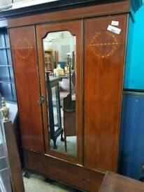 Vintage Wardrobe With Mirror - Delivery Available