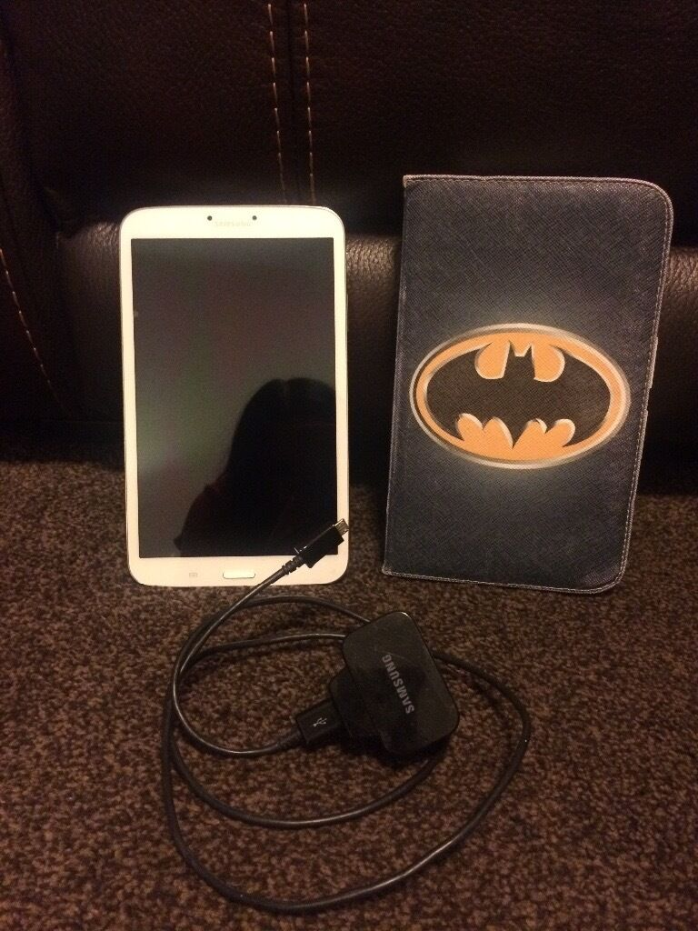 SAMSUNG GALAXY TAB3 TABLET WHITE 16GB PERFECT CONDITIONCHARGERin Coatbridge, North LanarkshireGumtree - SAMSUNG GALAXY TAB3 TABLET WHITE 16GB PERFECT CONDITION NO MARKS ALWAYS HAD A COVER ON IT FULL WORKING CONDITION BATMAN COVER INCLUDED SAMSUNG CHARGER INCLUDED COLLECTION FROM GLENBOIG, COATBRIDGE