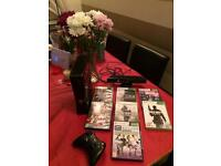 Xbox 360 Console,Kinect plus games.
