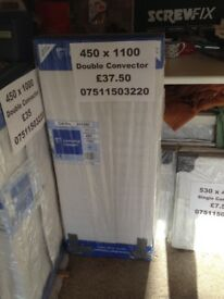 CENTRAL HEATING RADIATOR CENTERRAD Double Convector 450 mm high x 1100 mm long.