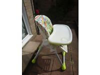 Almost new chicco polly high chair