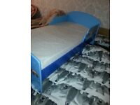 Junior bed in good condition cones with mattress if u want it