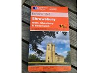 AS NEW Ordnance Survey OS Explorer 1:25000 1:25,000 Map 241 Shrewsbury, Wem, Shawbury & Baschurch