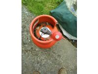 used empty gas bottle