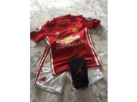 Football Man Utd kit size 7-8 perfect condition