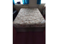 Double Bed Base With Comfortable Mattress - Free Delivery
