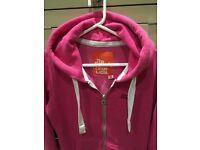SuperDry Women's Pink Hoodie, Size S