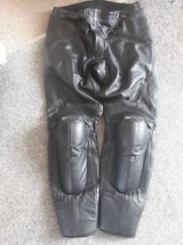 Bikers leather trousers