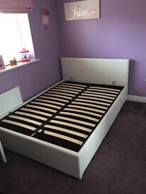Double divan double bed. White