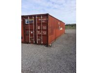 40 FT SHIPPING CONTAINER WITH BI FOLD PVC DOORS FOR OFFICE SHED SHOP OR GARDEN ROOM SITE HUT SECURE