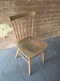 Vintage ercol style wooden kitchen dining chair