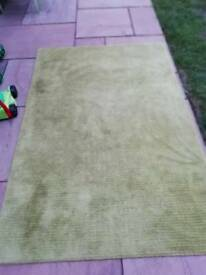 Pure wool green rug