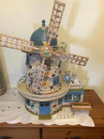 Sylvanian Windmill. Decorated. Wedding theme.