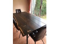 Vega Dining Table 200cm Solid Oak And 4 Chairs Hix Dining Barker & Stonehouse