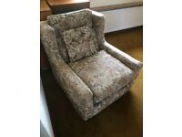 Three seater sofa and easy chair