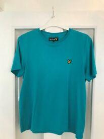 Lyle & Scott Teal T-shirt, Size L - £5
