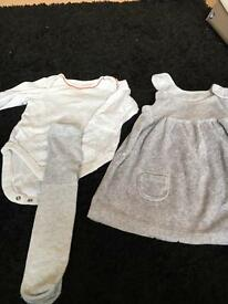 Baby girl dress (3 piece set) 6-9months from M&S