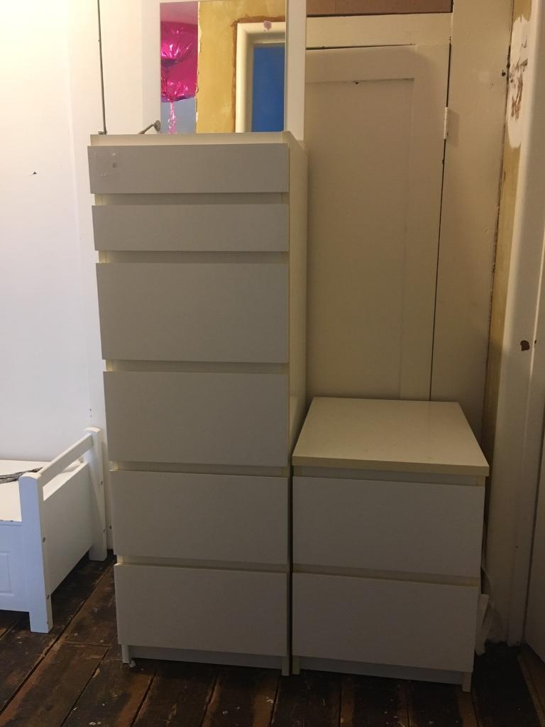 Childrens White Bedroom Furniture Ikea Malm In Buckhurst Hill Essex