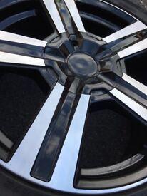 18 inch Alloy Wheels (+Tyres) Set of 4 Diamond Cut, Newly Refurb'd, suit VW Transporter