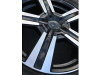 18 inch Alloy Wheels (+Tyres) Set of 4 Diamond Cut, Newly Refurb'd, suit VW Transporter