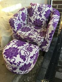 Chair and matching stool (£25)