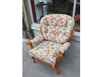 Armchair - free local delivery - good condition -floral material Free local delivery.