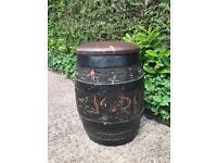 Large oak Rum barrel for sale