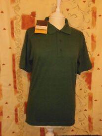 Regatta Professional Short Sleeve Polo Shirt, Bottle Green – Size XS (35/36)
