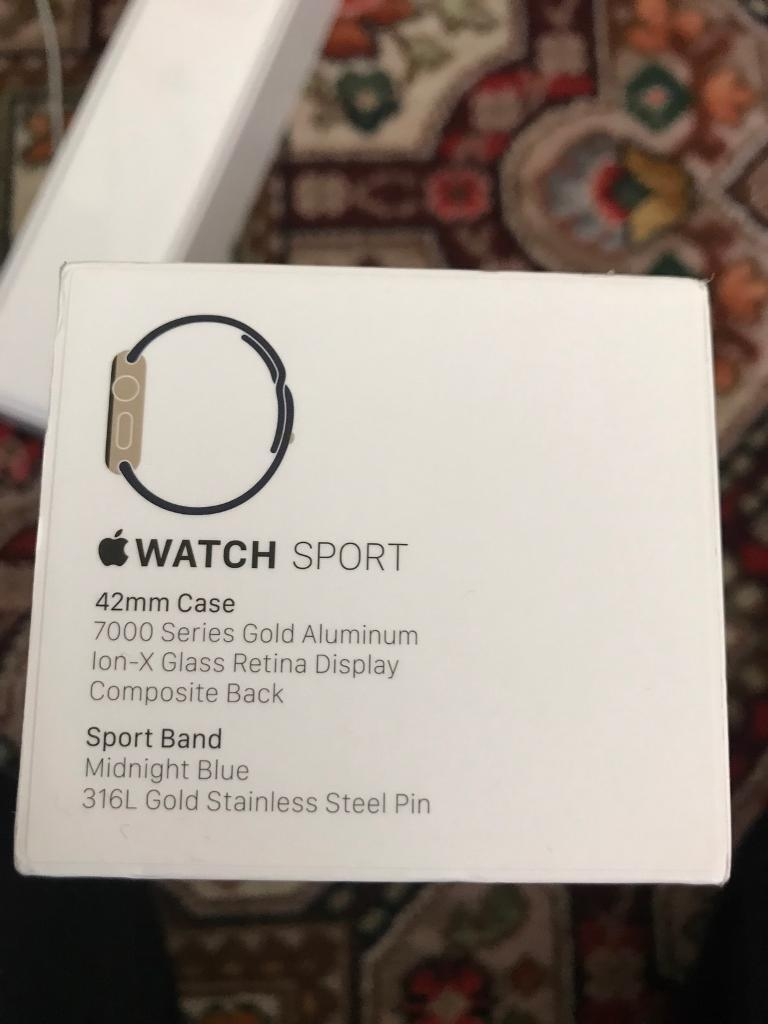 Apple Watch Gold 42mmin Belfast City Centre, BelfastGumtree - Apple Watch Sport Gold 42mm Still in great conditionSelling because I cant wear it everyday due to work